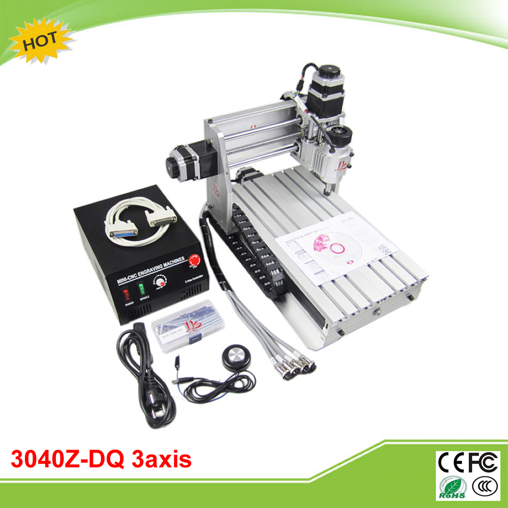CNC 3040Z-DQ 3 axis ball screw mini CNC router machine free tax to EU eur free tax cnc 6040z frame of engraving and milling machine for diy cnc router