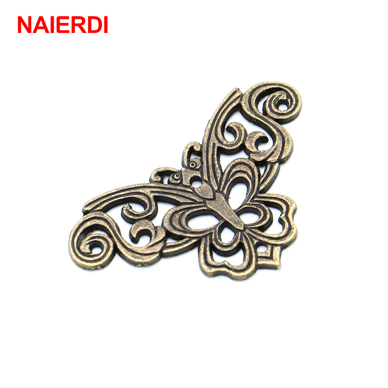 NAIERDI Bronze Jewelry Box Book Scrapbook Album Corner Decorative Protector Antique Notebook Albums Menus Frame Accessories