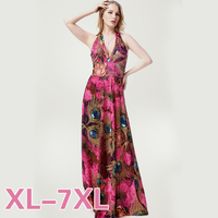 Hot Sale 2016 Women S Sexy Fashion Summer Floral Printed Halter Holiday Beach Dress Long Ice