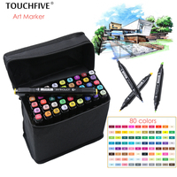 TOUCHFIVE 30 40 60 80 Colors Drawing Marker Pen Animation Sketch Copic Markers Set For Artist