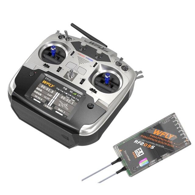 WFLY ET12 2,4 GHz 12CH controlador remoto de apoyo 180/270 'servidores con RF209S receptor FPV RC modelos