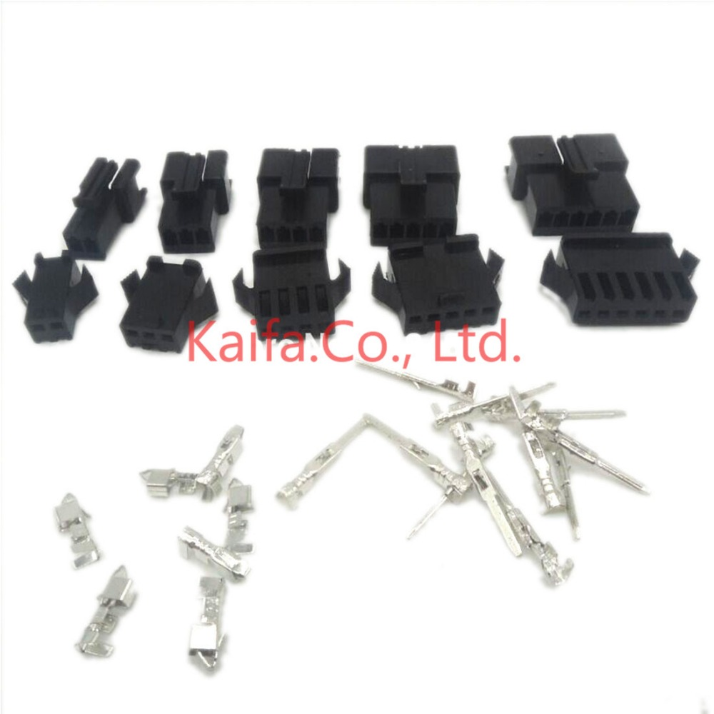 цена на 100sets/lot connectors SM 2/3/4/5/6/8/9/10/11/12Pin Pitch 2.54MM Female and Male Housing terminals SM-3P SM-3R JST SM2.54