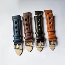 Купить с кэшбэком Watch Strap Band Genuine Leather 20mm 22mm 18mm 24mm Watchbands Replacement for Women Men Watch Strap Belts Accessories KZ3H04
