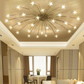 Modern 21/28Heads Sky Star Glass Iron Pendant Lamp Night Sky Firefly Simplified Cafe leisure clothing store Lamp