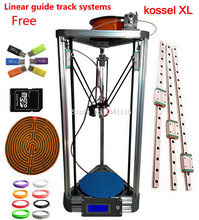 silver 3d Printer Kossel xl MEGA2560 With Lcd Rostock Reprap kossel k800 xl 3d Printer kit