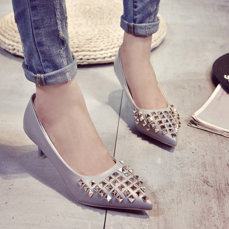 2016 Spring and Autumn new font b women s b font fashion pointed high heeled shoes