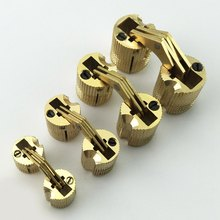 1pcs Copper Barrel Hinges Cylindrical Hidden Cabinet Concealed Invisible Brass Door Hinges For Furniture Hardware 1-16 mm(China)