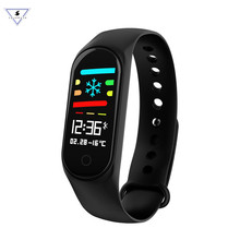 M3S Color-screen IP67 Smart Bracelet Blood Pressure Heart Rate Monitor Fitness Tracker Smart Wrist Band For Android IOS Phone naiku wristbands smart bracelet color lcd screen fitness bracelet ip67 waterproof smart band heart rate for ios android phone