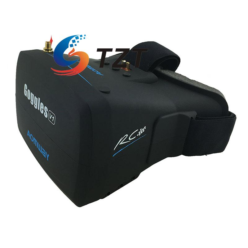 AOMWAY FPV Goggles 5.8G 40CH AV Receiver Headset Headplay HD Video Glasses for Quadcopter Drone