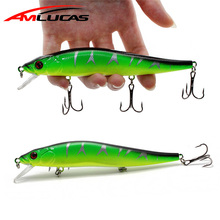 Amlucas Fishing Lures 3D Eyes 140mm 23g Minnow Hard Aritificial Vobleriai Crankbait Pesca Dive 1.5m su 3 žvejybos kabliais WE311