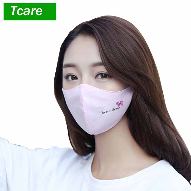 1pcs Fashion Girls Face Mouth Mask Anti Dust Filter Windproof Mouth-muffle Bacteria Proof Flu Care Reusable Women's Accessories