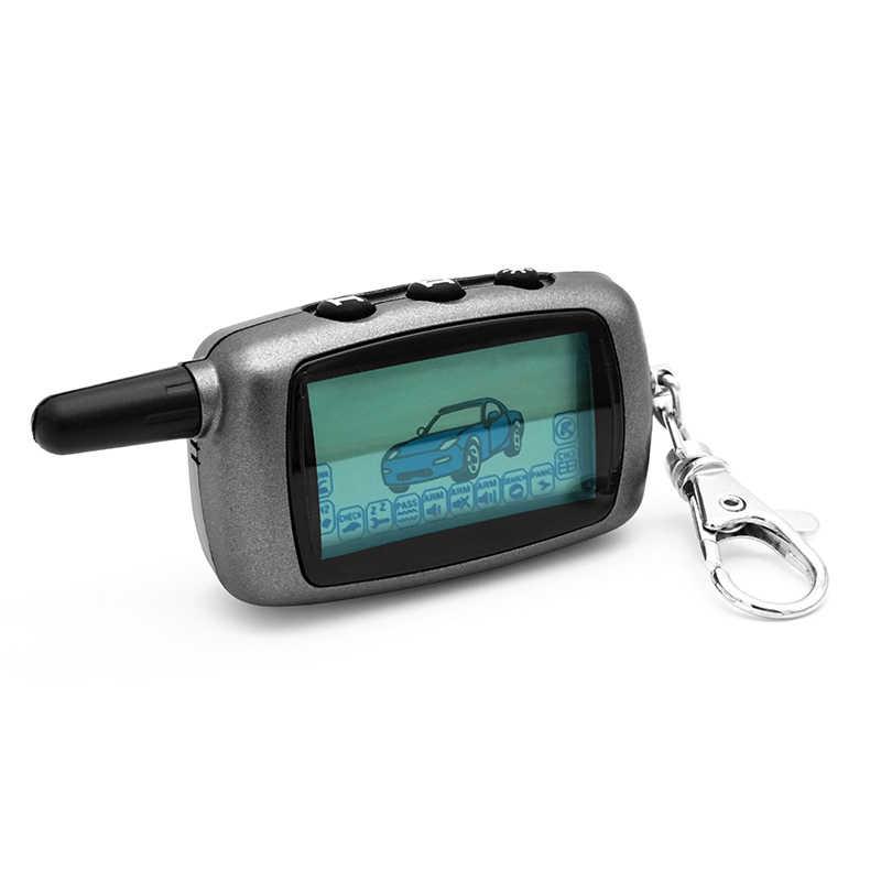 2-cách A6 LCD Điều Khiển Từ Xa Key Fob Chain A6 từ xa cho Phiên Bản tiếng nga Xe An Ninh Hai Chiều Xe hệ Thống báo động Starline A6