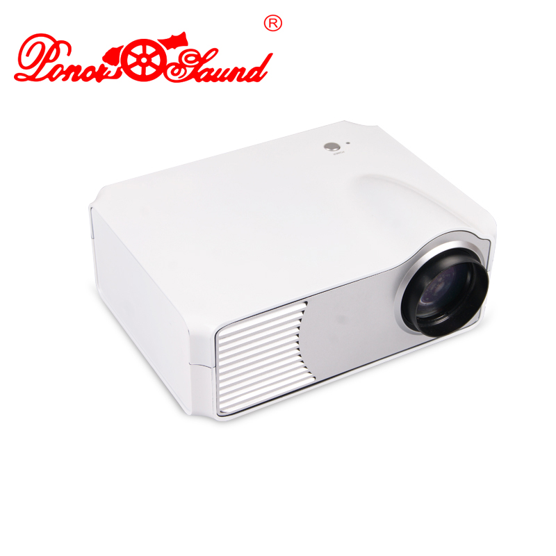 Poner Saund Full Hd New Mini Projector Proyector Led Lcd: Poner Saund 2015 New HD Mini Smart White LED 2 Projector
