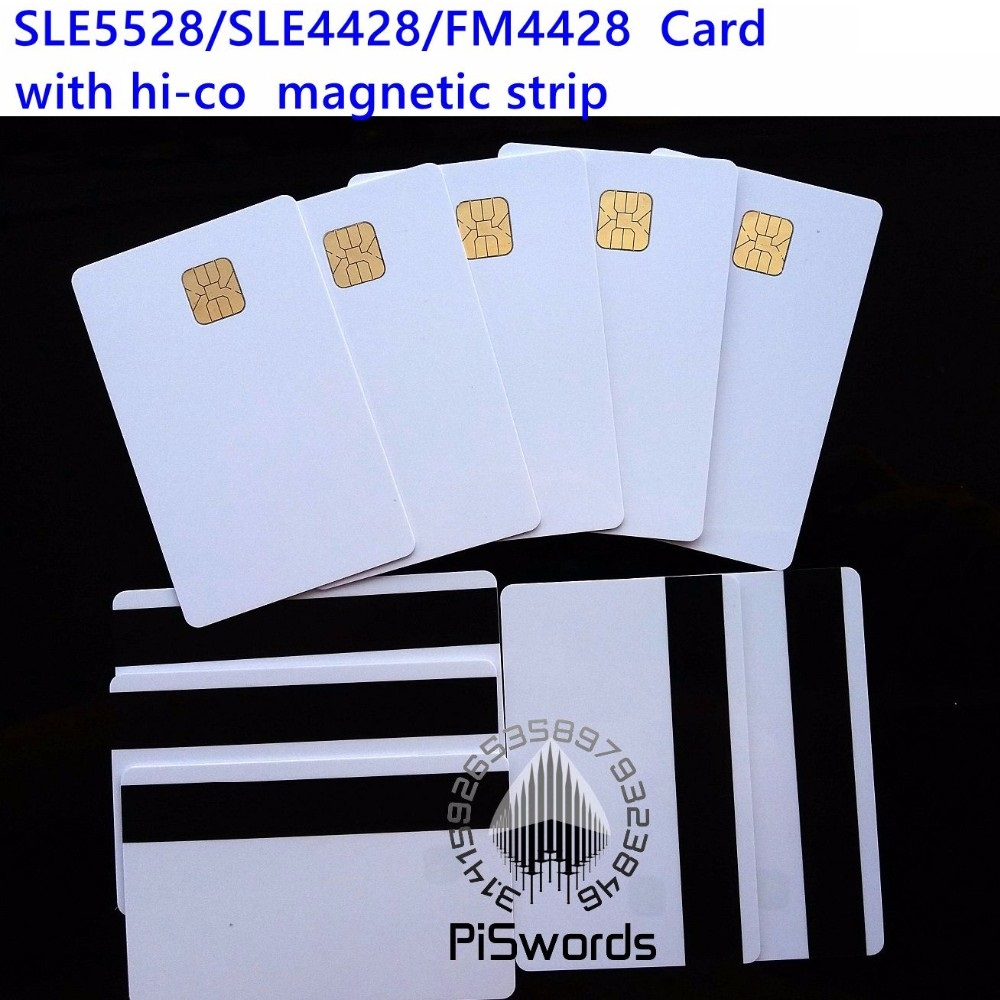 SLE5528 SLE4428 with hi-co hico magnetic strip compatible fm4428 ISO 7816 smartcard secure blank smart IC card yongkaida best quality acr39 u uf pc sc ccid iso 7816 emv certified contact ic chip smart card reader