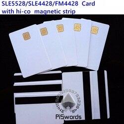 SLE5528 SLE4428 con banda magnética hi-co hico compatible con fm4428 ISO 7816 tarjeta smartcard segura en blanco tarjeta inteligente IC