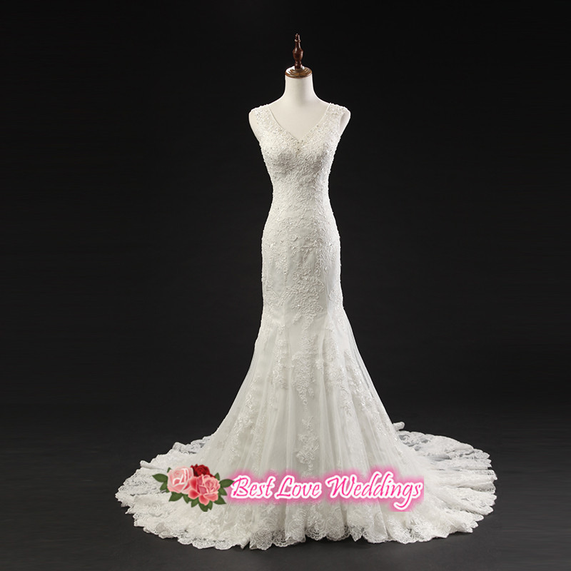 vintage wedding dress 2015 sweetangel plunging neckline illusion ... f55deb788