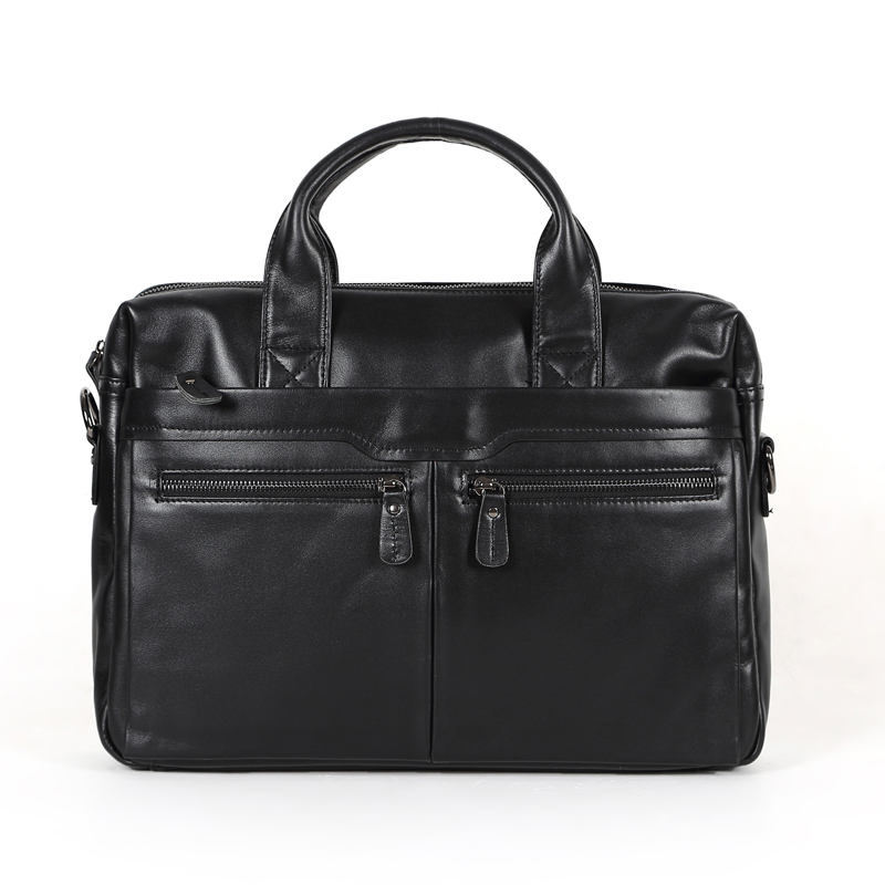 Promotion vintage men's bag genuine leather men briefcase black color portfolio men messenger bags laptop handbag #VP-J7122 high quality vintage genuine leather briefcase men cowhide 14 laptop bag portfolio messenger bags for macbook for ipad
