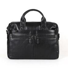 โปรโมชั่นวินเทจกระเป๋าผู้ชายหนังผู้ชายกระเป๋าเอกสารสีดำผลงานผู้ชายmessengerถุงแล็ปท็อปกระเป๋าถือ# VP-J7122