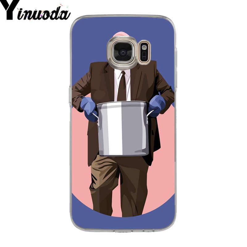 Yinuoda オフィステレビ番組ソフト tpu 電話ケースカバーのための samsung galaxy S9 S7 S6 エッジプラス S5 S9 S8 プラスケース