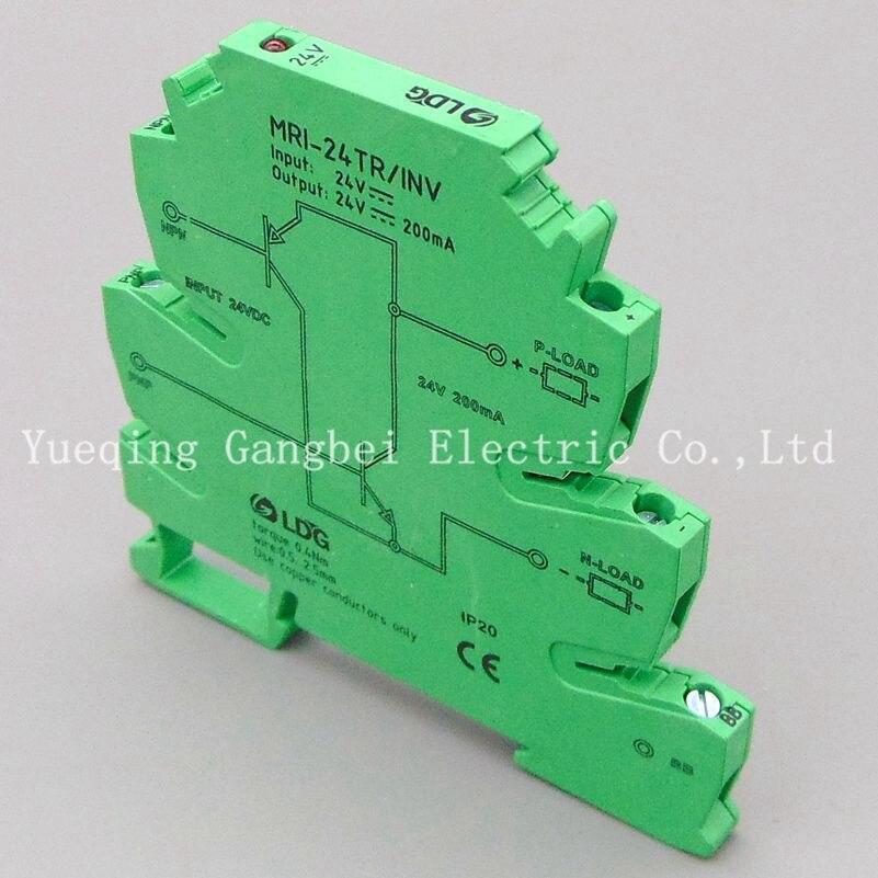 NPN PNP signal converter PLC sensor polar level conversion module MRI-24TR/INV 4 way photoelectric isolation module plc signal level voltage conversion board pnp output