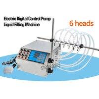 4L/min 6 cabeças Máquina De Enchimento Elétrica Da Bomba de Controle Digital Máquina de Enchimento Líquido 3-4000 ml de líquido  água  perfume  suco  etc.