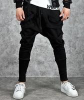 Black Men Casual Pants Autumn Fashion Mens Joggers Sweatpants Slim Fit HipHop Harem Pants Men Brand