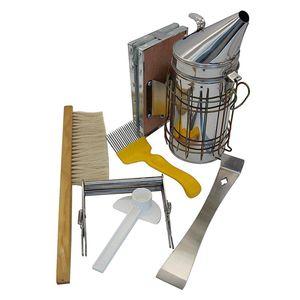 Инструмент пчеловода набор из 6 дымарь для пчелиных ульев, пчелиный Brsuh вспомогательное устройство для пчеловодства-пчеловодческий инструм...