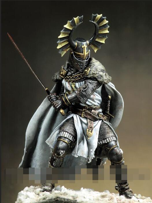 1/18 90mm Teutonic Knight soldier high 90mm toy Resin Model Miniature Kit unassembly Unpainted 90mm frame kit