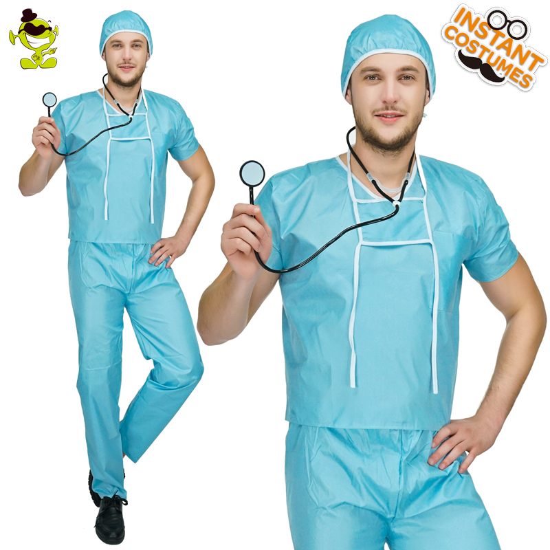 Adult Mens Doctor Outfits Costume Role Play Halloween -7496
