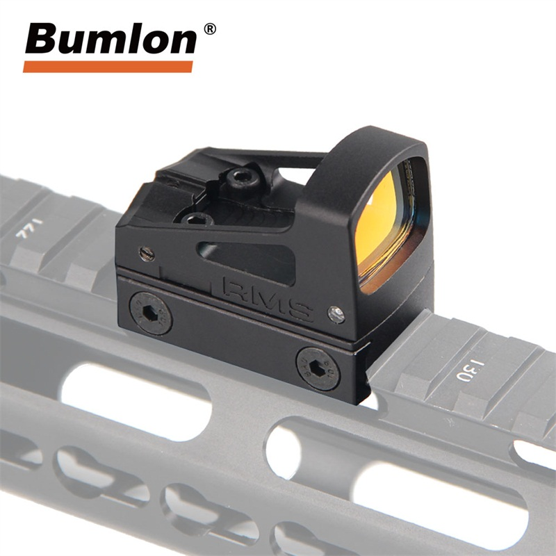 Tactical RMS Reflex Micro Red Dot Sight Scope With Ventilated Mounting and Spacers For Airsoft Glock