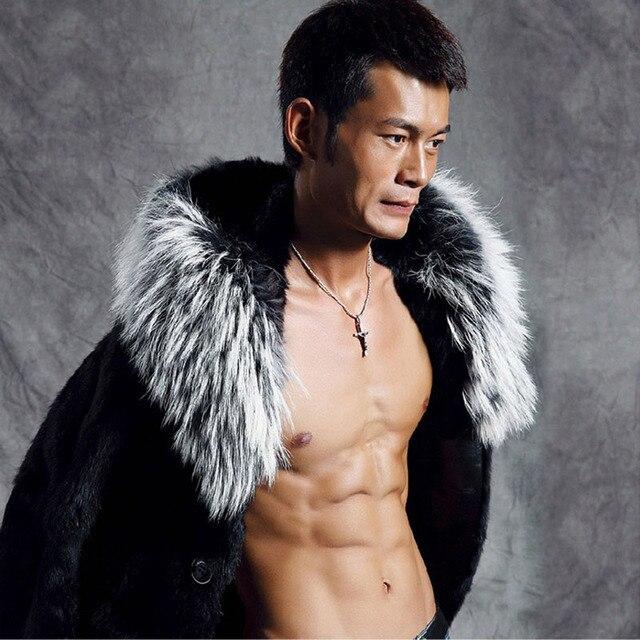 Aliexpress.com : Buy 2016 Winter Men Brand New Fur Collar Long ...