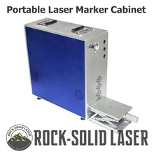 Portable Fiber Laser Marking Machine Cabinet Marker Case with Z-Axis Work Table 1064nm Parts IPG Raycus Laser Source Wholesale laser marking engraving machine 3 axis moving table 210 150mm working size portable cabinet case xyz axis table