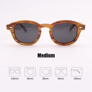 Image 5 - Johnny Depp gözlük polarize güneş gözlüğü erkekler kadınlar lüks marka tasarım asetat Vintage stil sürücü gözlük en kaliteli 080 1