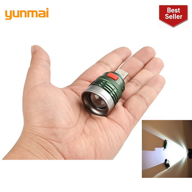 2019 Yunmai Mini USB Work Light  Flash Light Portable Charging Lantern Computer 3-Mode Reading Lamp Waterproof LED Torch Lamp