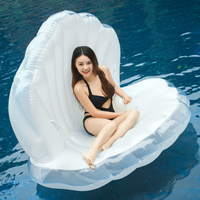 Shells Giant Unicorn Pool Float Rainbow Pegasus Ride On Inflatable Swimming Ring Adult Children Air Mattress Party Water Toy