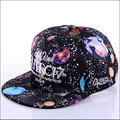 2016 Universe space hat snapback baseball caps hiphop hat bboy brim white adjustable unisex sports popular clothing trendy cap