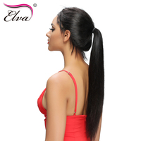 Elva Hair 180 Straight 360 Lace Frontal Wig Pre Plucked Brazilian Remy Hair 360 Lace Wigs