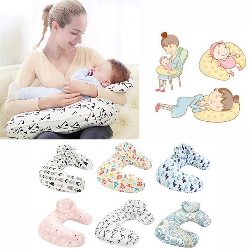 Newborn Baby Nursing Pillows Maternity Baby Breastfeeding Pillow Infant Cuddle U-Shaped Newbron Cotton Feeding Waist Cushion