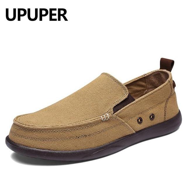 2018 primavera otoño lienzo Zapatos hombres ultraligero transpirable hombres ocasionales Zapatos alta calidad cómodo Mocasines conducción perezoso Zapatos