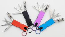 COG Mini Fashion Keychain Swiss Knife LED Lights Nail Clippers Earpick Scissors Tweezers Pocket Multifunction Hand Tools swiss pattern thin hooked tweezers bst 6a