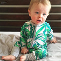 Bo * nds KIKIKIDS Wondersuit Mameluco ropa Del Bebé Recién nacido bebé ropa de la muchacha ropa bebe Bambú Estilo MAKA niños de Los Mamelucos