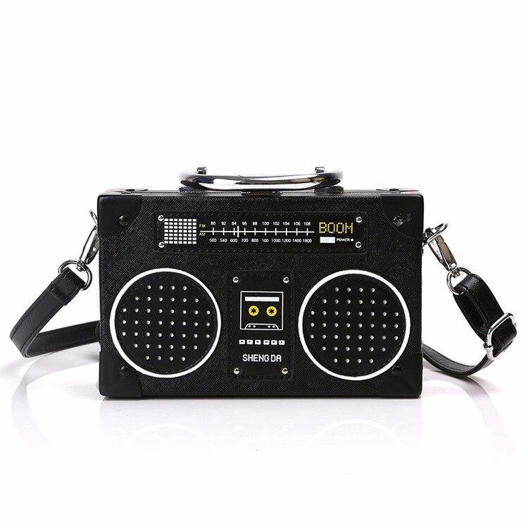 Személyiség Retro rádió formájú táska Női aranyos táska - Kézitáskák