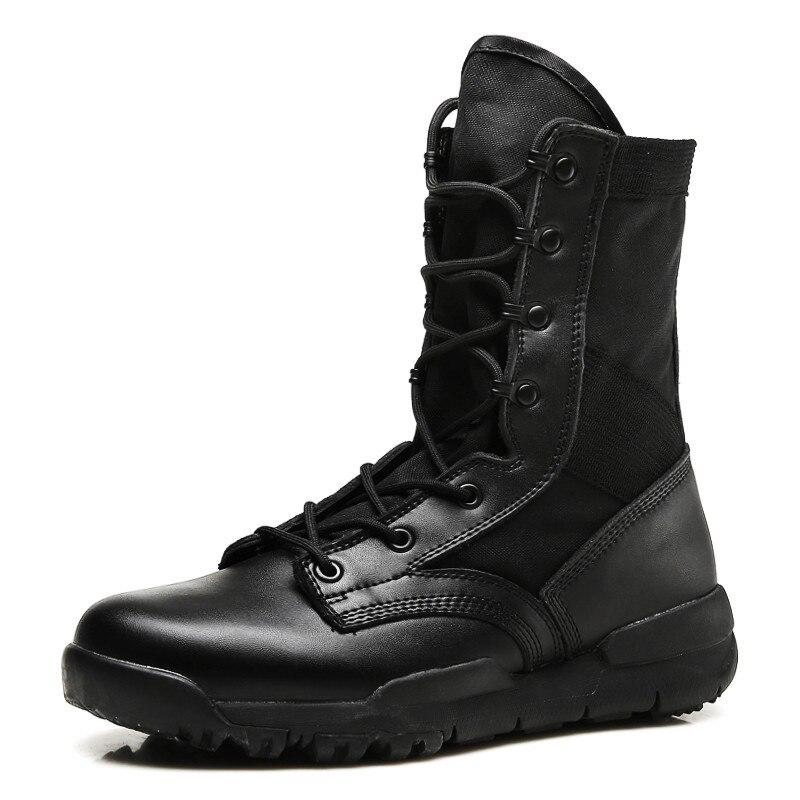 Satety Exército Militar Dos Botas Qualidade Lace Unisex Moda Do up De black Pu Homens Masculinas Tornozelo Rebanho With Khaki Motorcyble Flock Sapatos Alta Homass OqZTCT