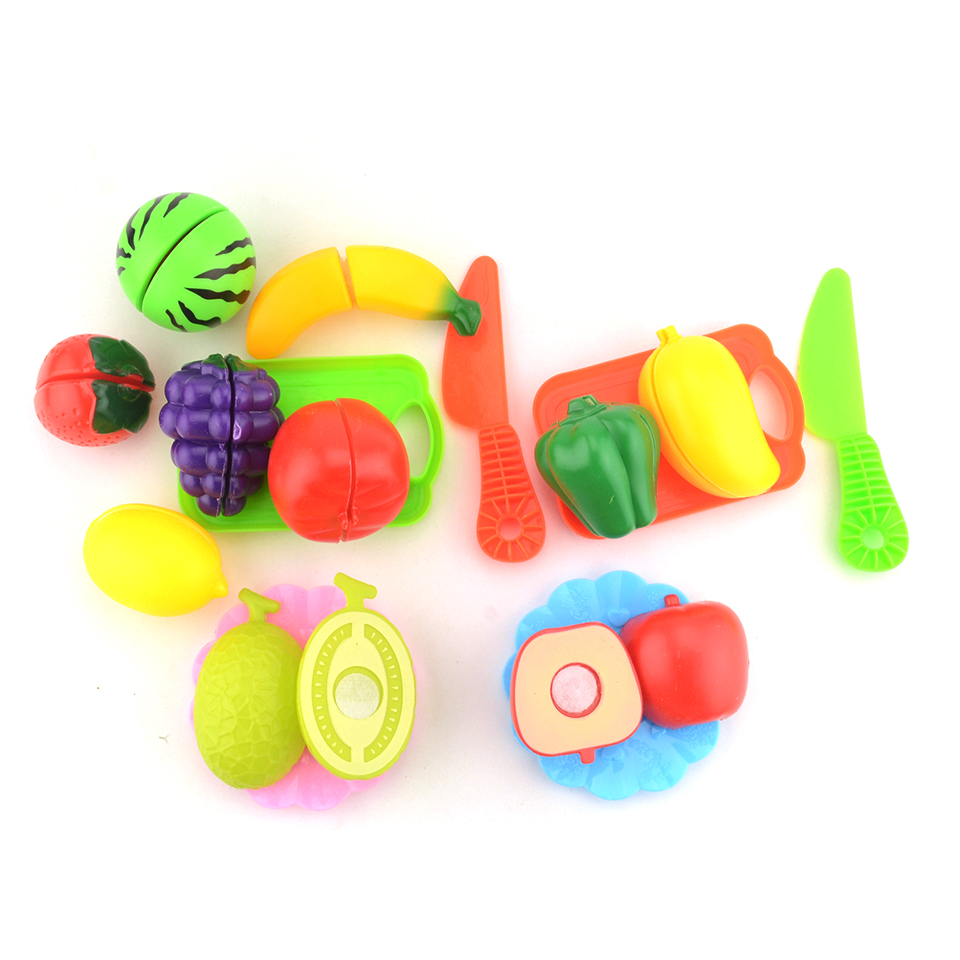 6/10 pcs/Set Plastic Fruits And Vegetables Cutting Kids Kitchen Toy Play Educational Toys For Girls Play Food Cosplay Cook