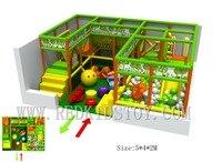 Премиум качество нетоксичен дети маленькие площадка Крытый 5 х 4 х 2 м с ПУЛ и слайд HZ 8419