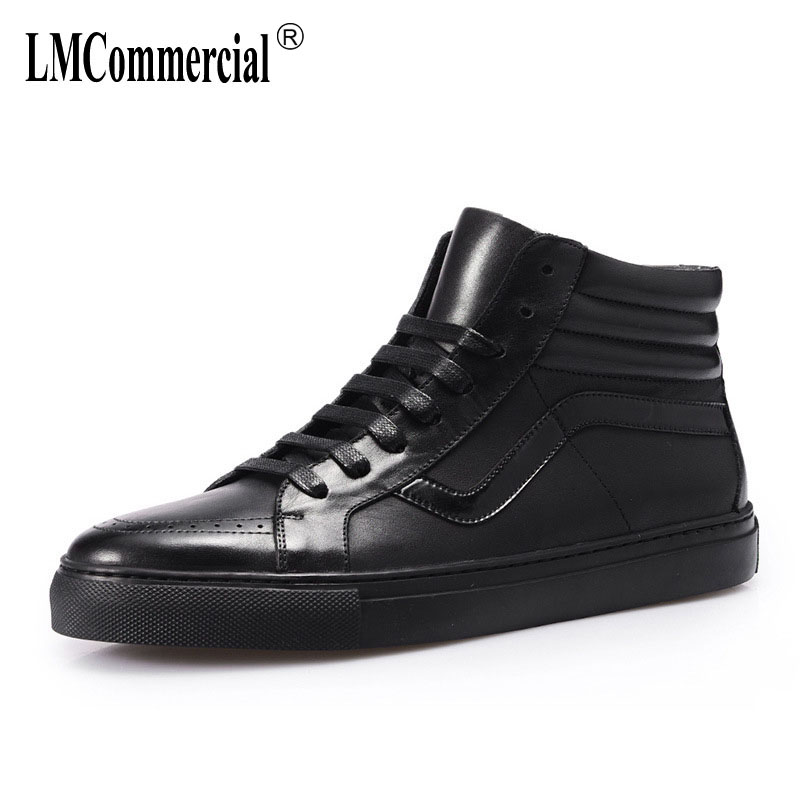 High top shoes men's new autumn winter British retro Martin boots men Genuine leather shoes male all-match cowhide breathable 2017 new autumn winter british retro men shoes zipper leather shoes breathable fashion boots men casual shoes handmade f