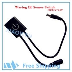 Automatyczne macha czujnik IR nowy wysokiej jakości przejść przez szkło 12 V 24 V DC czujnik podczerwieni do produkty LED w Złącza od Lampy i oświetlenie na