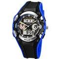 Relogios masculinos 2016 Homens De Luxo Da Marca Crianças Relógios Digital LED Relógio de Quartzo Homens relógios de Pulso À Prova D' Água Multifuncional