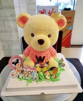 PRZY ซิลิโคน Mousse เค้กแม่พิมพ์ 3D ขนาดใหญ่ตุ๊กตาหมี W เสื้อผ้าช็อกโกแลตแม่พิมพ์แม่พิมพ์ซิลิโคนน่ารักตุ๊กตาสำหรับทำเค้ก