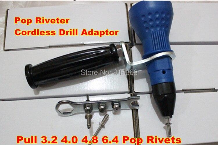 200pcs  blind rivet kits POP Rivet tool  CORDLESS Rivet DRILL  3.2- 6.4 electric riveter gun ootdty electric rivet gun tool nut